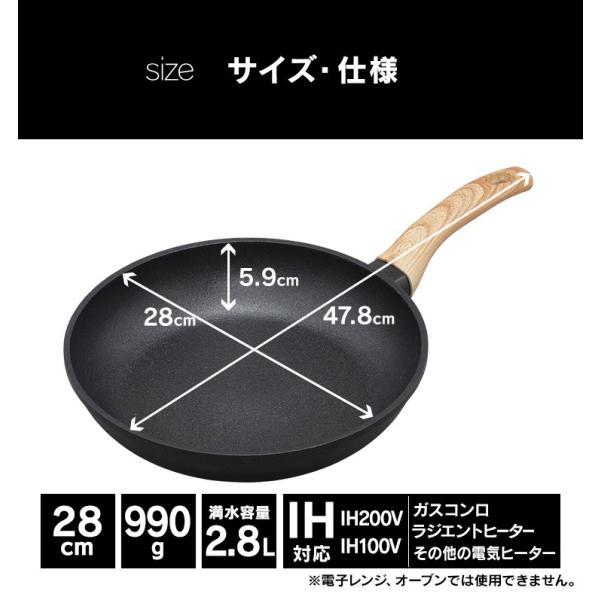 スキレット IH フライパン 28cm スキレットコートパン ブラック SKL-28IH アイリスオーヤマ unidy-y 16