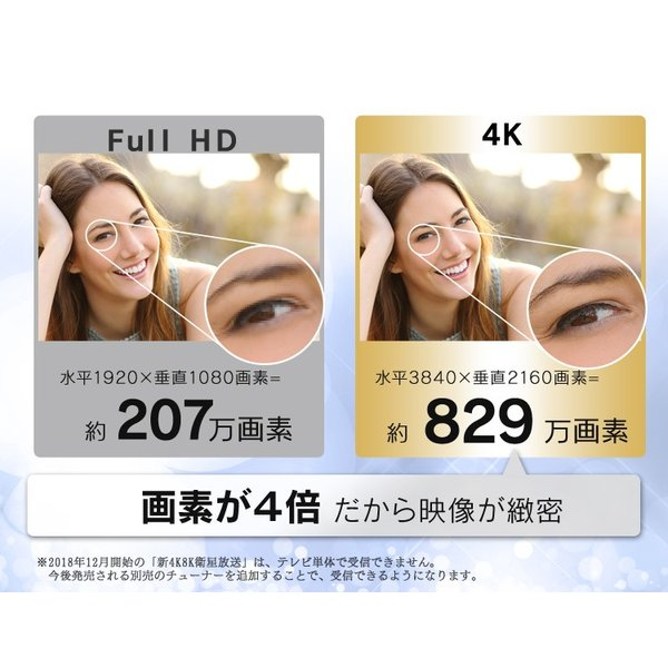 テレビ 49型 4K LUCA 4K対応テレビ 49インチ LT-49A620 ブラック アイリスオーヤマ