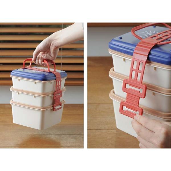 弁当箱 おしゃれ レディース 3段 ランチボックス BHK092 BRUNO (B)|unidy-y|03