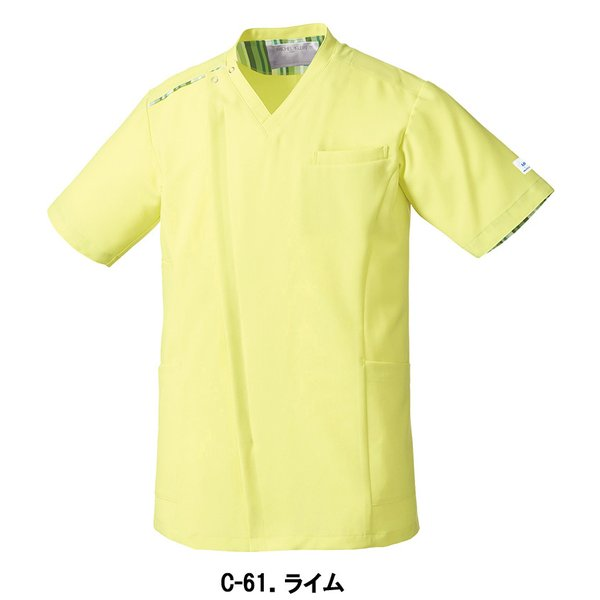 MICHEL KLEIN ミッシェルクラン スクラブ 医療 看護 介護 白衣 ファスナースクラブ メンズ 半袖 UNITE チトセ MK-0003 uniform-japan 02