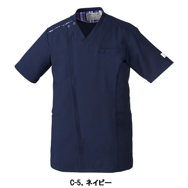 MICHEL KLEIN ミッシェルクラン スクラブ 医療 看護 介護 白衣 ファスナースクラブ メンズ 半袖 UNITE チトセ MK-0003 uniform-japan 04