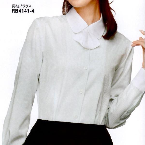 事務服 ブラウス 長袖 取り外し可能なリボン付き (制服におすすめ) 7号-15号|uniform100ka