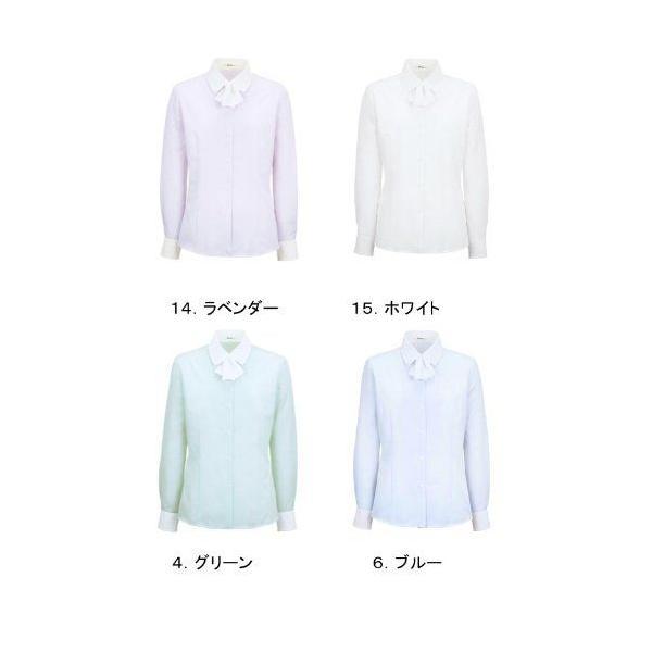 事務服 ブラウス 長袖 取り外し可能なリボン付き (制服におすすめ) 7号-15号|uniform100ka|03