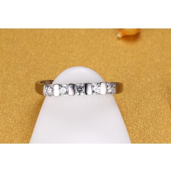 レディース リング 指輪 エンゲージメント シルバー カラー キュービックジルコニア 石 USA