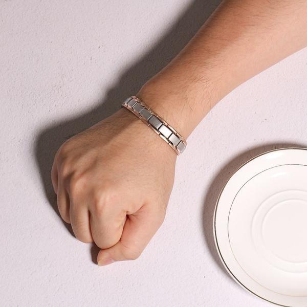 レディース ブレスレット バングル 磁石 メンズ ステンレス 健康 ケア エネルギー パワー マグネティック バランス