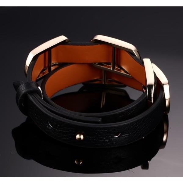 レディース ブレスレット バングル メンズ ビンテージ レザー ラップ ブラウン フリーサイズ