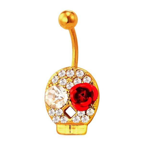レディース リング 指輪 ピアス スカル ローズ ネーブル ロック ビーチ パーティー 腹 ボタン ボディ