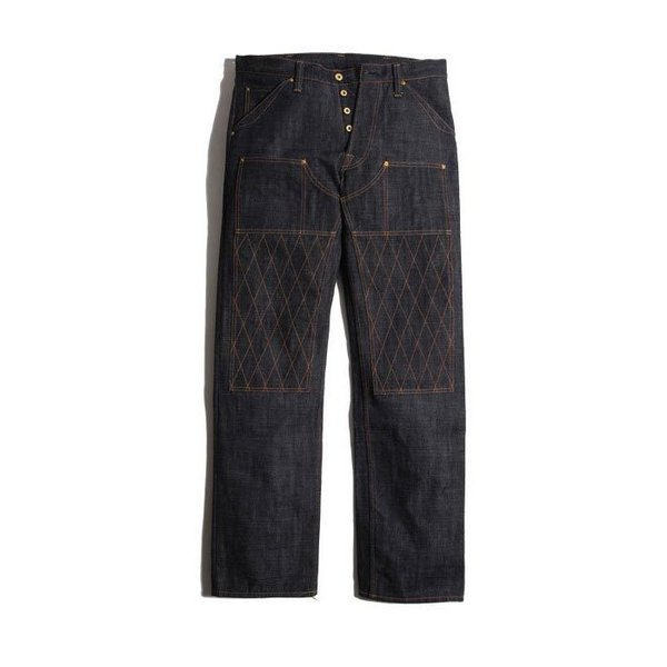 TROPHY CLOTHING トロフィークロージング 15th Anniversary 1606 W Knee STD Dirt Denim ワンウォッシュ済み デニム ジーンズ チェーンステッチ 裾上げ無料