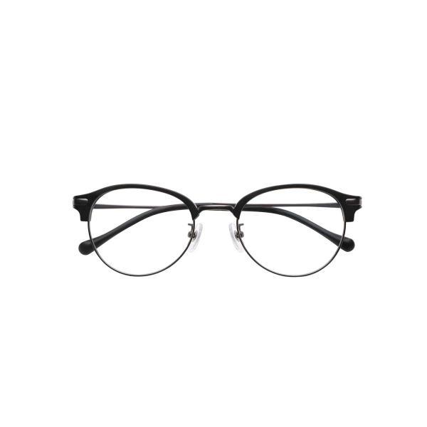 ピントグラス シニア 老眼鏡 おしゃれ 度数調整 PG-112L-MBK