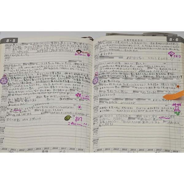 石原出版社 日記 2019年 石原10年日記 B5 こげ茶 N101901|unitech-shop|04