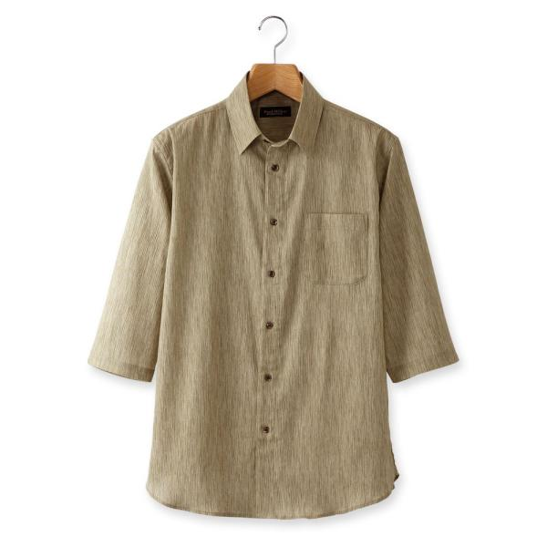 日本製 シャツ 7分袖 高島ちぢみ 楊柳 メンズ 2色組 送料無料 父の日|united-japan|04