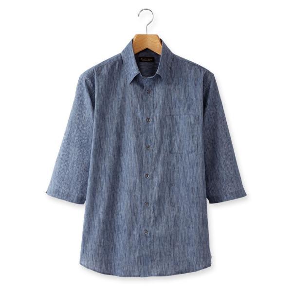 日本製 シャツ 7分袖 高島ちぢみ 楊柳 メンズ 2色組 送料無料 父の日|united-japan|07