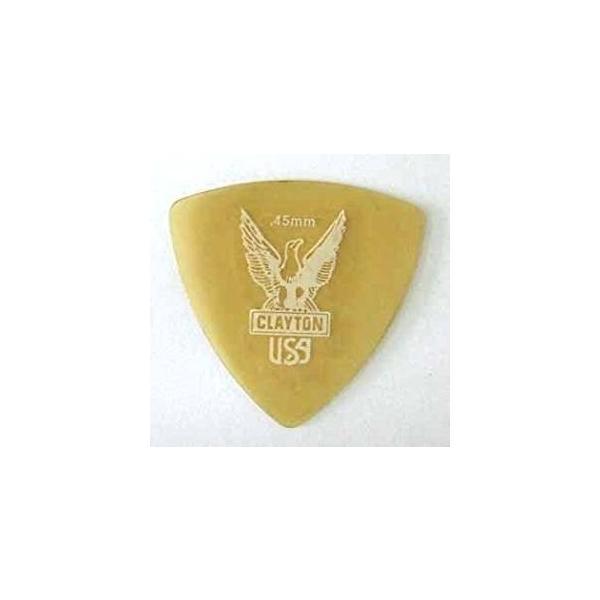 Clayton USA Ultem Gold 0.45mm 丸肩トライアングル ピック×12枚