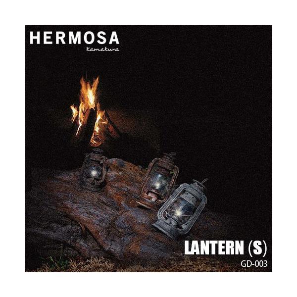 HERMOSA/ハモサ LANTERN S ランタンS GD-003 LED電球 卓上照明 ライト AC/電池両用 アンティーク&ビンテージ調