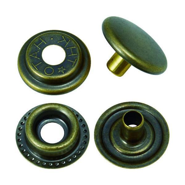 (ハトメ・ハトメパンチ)TRUSCO ハトメボタン 金ブロンズメッキ 15mm 10組入り P-THB15-GBM
