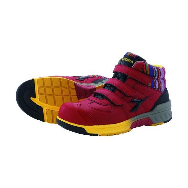 (プロテクティブスニーカー)ディアドラ 安全作業靴 ステラジェイ 赤/黒 28.0cm SJ32280