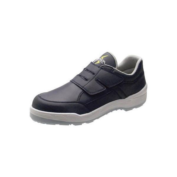 (安全靴 作業靴 保護靴)シモン Simon 静電プロスニーカー 短靴 8818N紺静電仕様 25.0cm  8818BUS-25.0