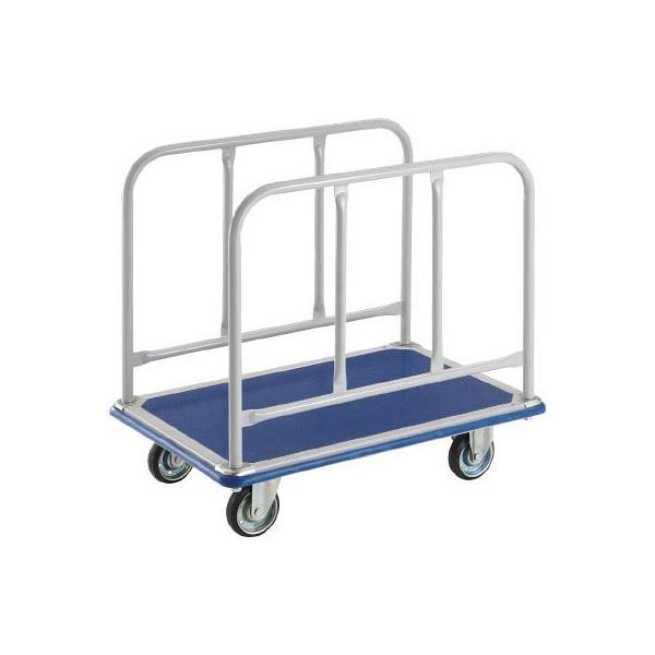 直送品 代引不可 (プレス製 運搬車 台車)トラスコ ドンキーカート サイドハンドル1225×775 510N