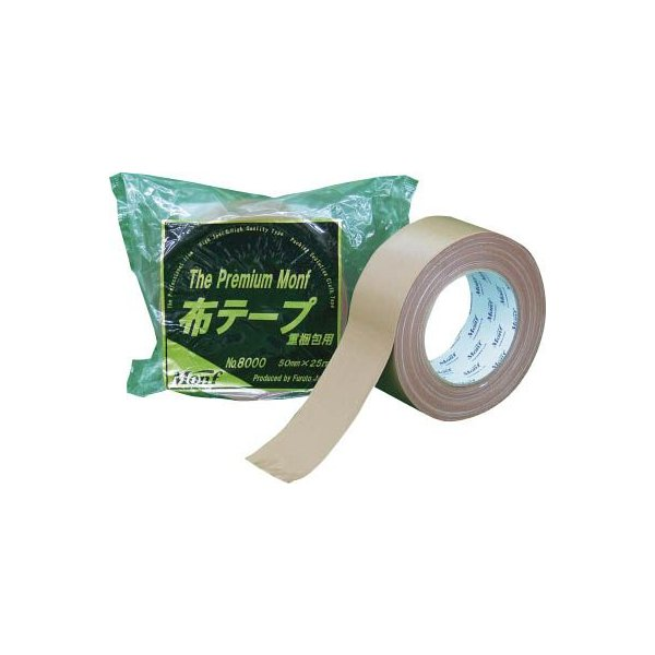 (梱包 テープ)フルトー 重梱包用布粘着テープNo.8000 The Premium Monf  8000 50MMX25M