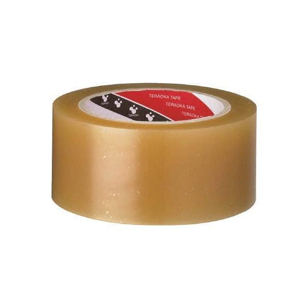 (梱包 テープ)寺岡製作所 TERAOKA パックテープ NO.451 #60 クリーム 50mmX50M  451 C-60-50X50