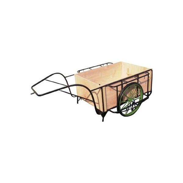 直送品 代引不可 (一輪車 リヤカー)ムラマツ リヤカー木箱付き  MR-3K