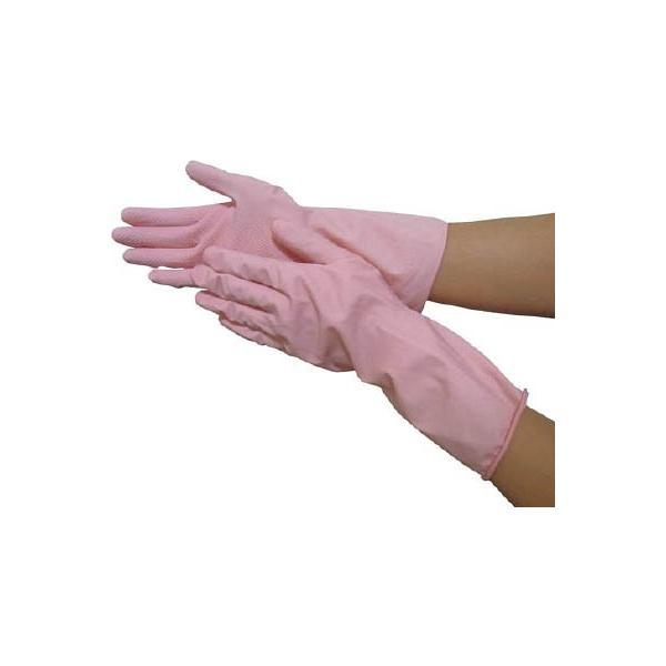 (天然 ゴム手袋)オカモト ふんわりやわらか天然ゴム手袋 ピンク M  OK-1-P-M