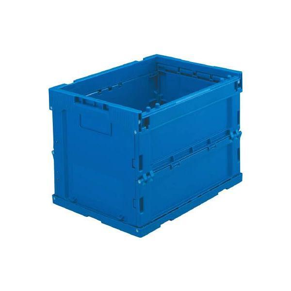 (折りたたみコンテナボックス 収納 おしゃれ)トラスコ α折りたたみコンテナ 20L ダークブルー  TR-S20