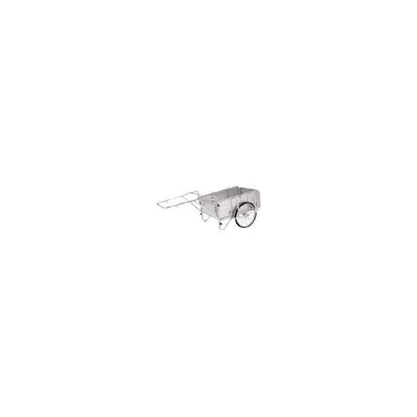 直送品 代引き不可(一輪車・リヤカー)アルインコ アルミ製折りたたみ式リヤカー HKW180
