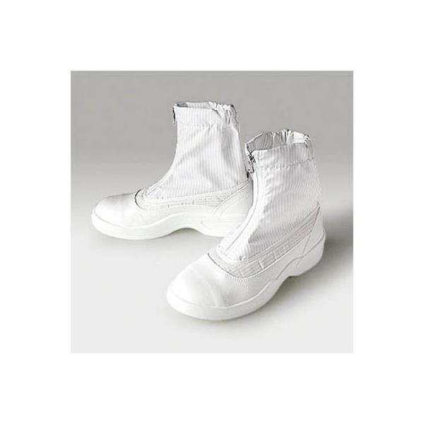 (クリーンルーム シューズ)ゴールドウイン 静電安全靴セミロングブーツ ホワイト 26.0cm  PA9875-W-26.0