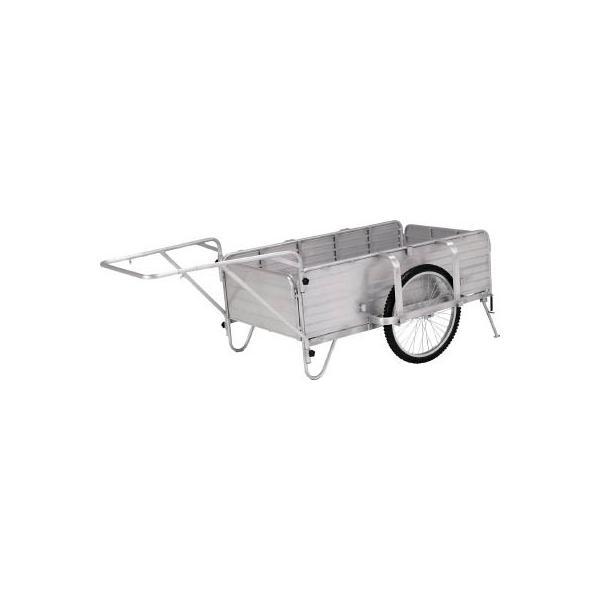 直送品 代引き不可(一輪車・リヤカー)アルインコ アルミ製折りたたみ式リヤカー HKW180L