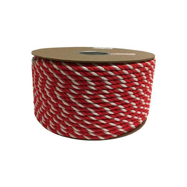 (ロープ)ユタカ アクリル紅白ロープ 9mmm×150m  PRZ-55