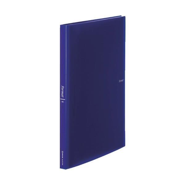 (ファイル・ブックスタンド)キングジム クリアーファイル フォーマット透明40P青 8172TWBLUE