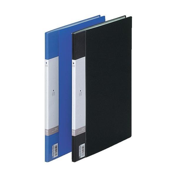 (ファイル・ブックスタンド)リヒト A4/S クリヤーブック(10枚) 黒 G320024