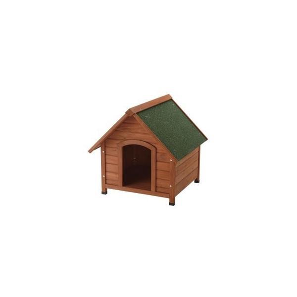 リッチェル 犬小屋 ドッグハウス 室外 屋外 防寒 木製犬舎830 (小型犬〜中型犬用)