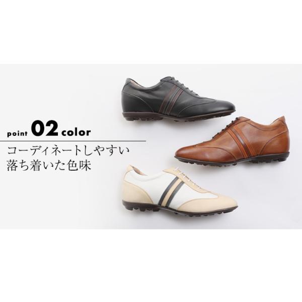 シークレットスニーカー レザースニーカー メンズ 本革 国産 牛革 レイヤーライン 5cmアップ No.899|up-shoes|07
