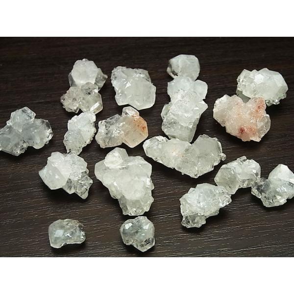 アポフィライト ミニ結晶 原石 詰め合わせ(インド・ジャルガオン産)(約50gアソートセット)アポフィライト|魚眼石|アソート|天然石|パワーストーン||up-stone|02