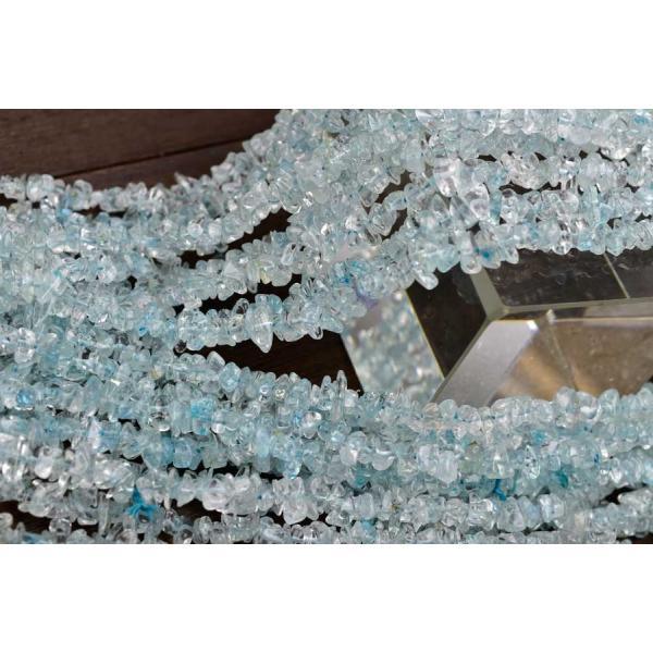 ブルートパーズ トパーズ(さざれ連:約90cm) ネックレス・作成に 黄玉 天然石 パワーストーン 連 連販売 さざれ|up-stone|02