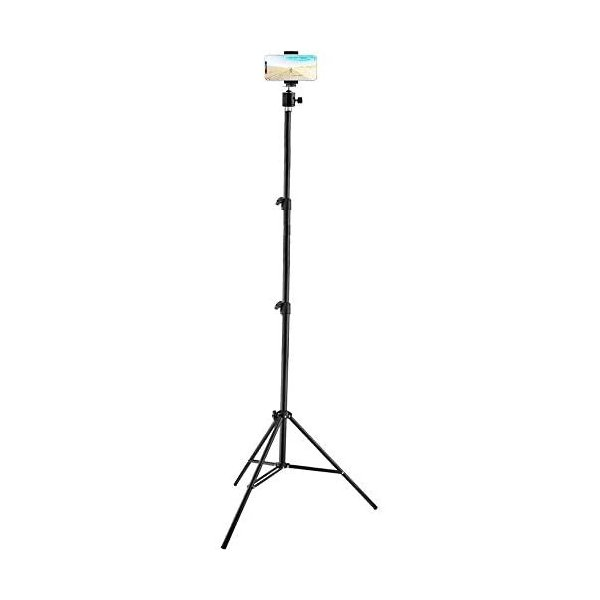 マートフォン三脚/スマホ 三脚 最高2.1m 高伸長 自分撮り 折り畳み 自撮り 撮影 ビデオを録画する 生放送 旅行 三脚スタンド up-to-date