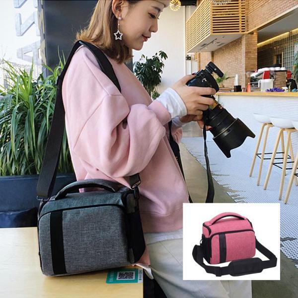 カメラバッグカメラ鞄デジタル一眼女子ショルダーカジュアルシンプルミラーレスコンデジバッグバック