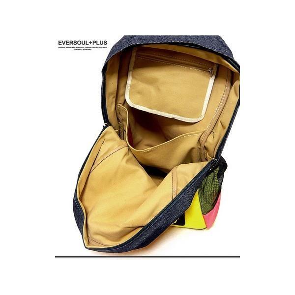 バッグ カラフルなネオンカラーで今季注目度大 非常に大きなメガジップファスナー付き切替えデイバッグ|update|04