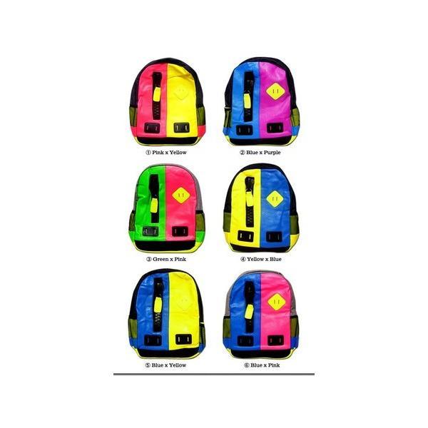 バッグ カラフルなネオンカラーで今季注目度大 非常に大きなメガジップファスナー付き切替えデイバッグ|update|05