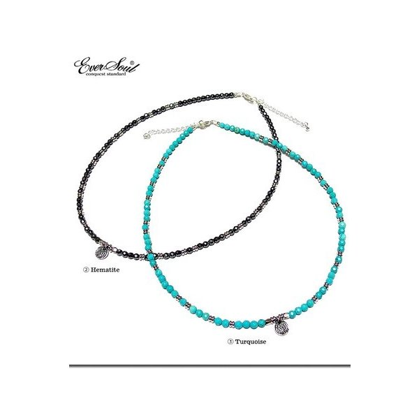 メンズ用ネックレス、ペンダント ネックレス EVERSOUL別注カラフルな天然石にシルバー925のトップを組み合わせた高級感溢れる天然石