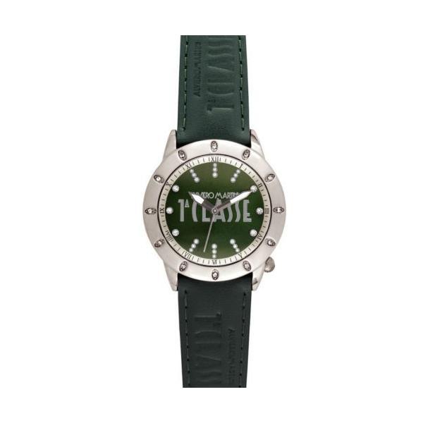腕時計 プリマクラッセ Prima Classe レディース PCD 942S/ZZ ラウンド グリーン レザー クリスタル 腕時計|upmulberry