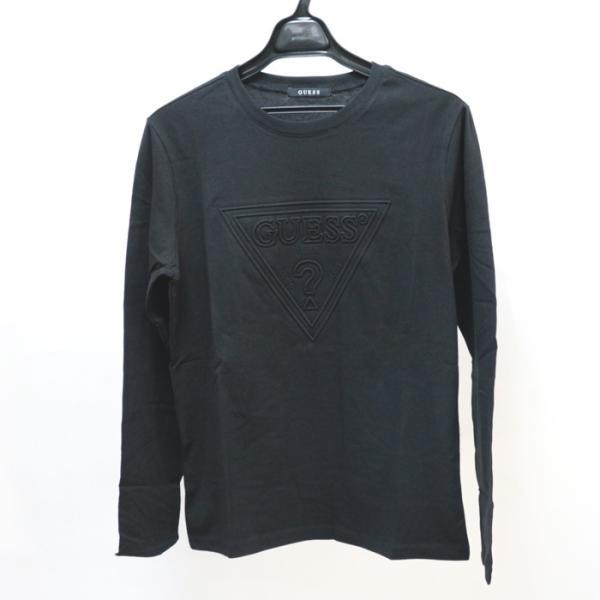 GUESS ゲス ロンT Tshirt エンボス加工ロゴロングTシャツ 長袖 メンズ レディース ユニセックス MI2K9409LS|upper-gate|02