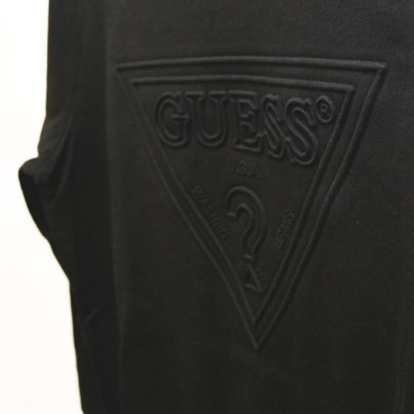 GUESS ゲス ロンT Tshirt エンボス加工ロゴロングTシャツ 長袖 メンズ レディース ユニセックス MI2K9409LS|upper-gate|03