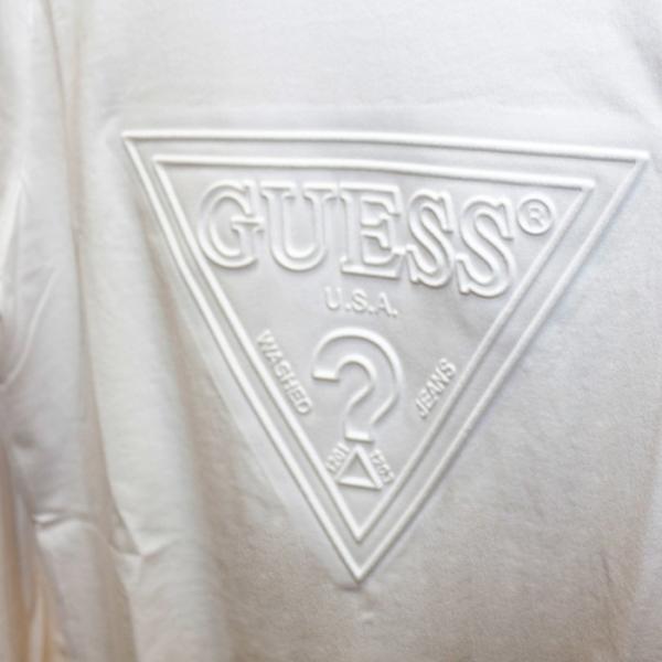 GUESS ゲス ロンT Tshirt エンボス加工ロゴロングTシャツ 長袖 メンズ レディース ユニセックス MI2K9409LS|upper-gate|07