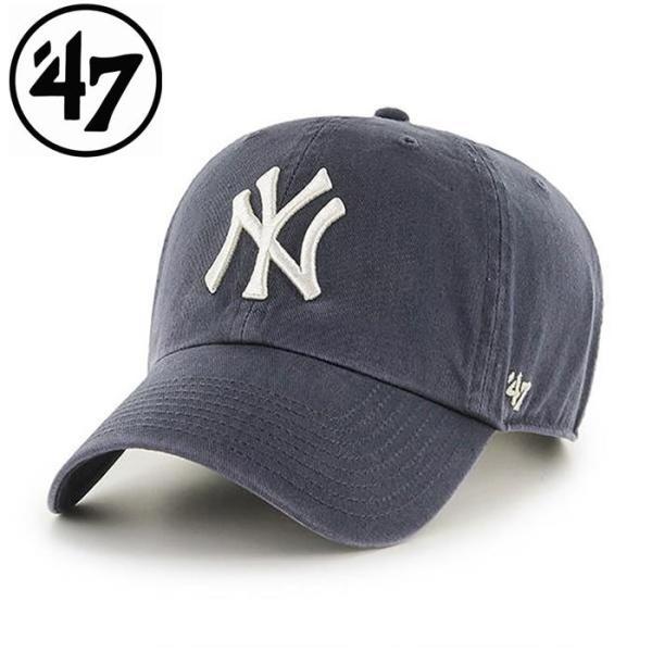 47 フォーティーセブン Yankees '47 CLEAN UP Vintage Navy メンズ レディース 野球 メジャー ヤンキース メジャーリーグ 帽子 プレゼント ニューヨーク