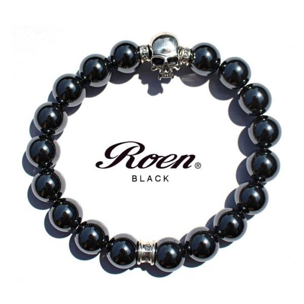 f1c9aea27f6ef2 Roen BLACK ロエン ブラック ヘマタイト ブレスレット メンズ パワーストーン 天然石 シルバー スカル  SILVER925 upper-gate ...