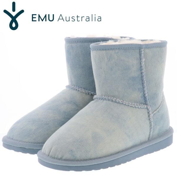 emu ブーツ エミュー ムートンブーツ レディースブーツ デニム emu LIGHT DENIM DISTRESS W11377 即納 人気