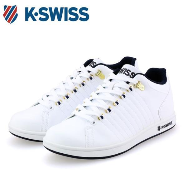 ケースイス スニーカー ミッドカット シューズ ホワイト KSWISS KSL01 36800018 K・SWISS 即納 人気ブランド 通勤 通学